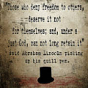 Said Abraham Lincoln Print by Cinema Photography