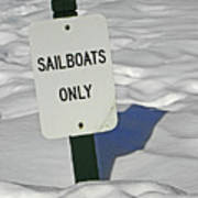 Sailboats Only Print by Elizabeth Hoskinson