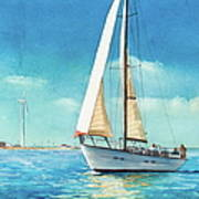 Sailing Through The Gut Print by Laura Lee Zanghetti