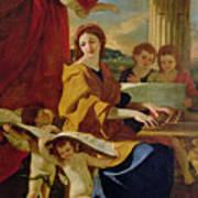 Saint Cecilia Print by Nicolas Poussin