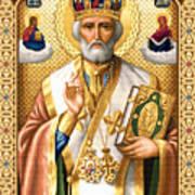 Saint Nicholas Print by Stoyanka Ivanova