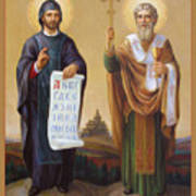 Saints Cyril And Methodius - Missionaries To The Slavs Print by Svitozar Nenyuk