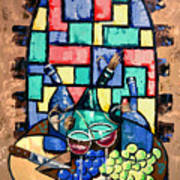 Salute Happy Hour In Tuscany Print by Anthony Falbo