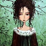 Samantha's Chocolate Tree Print by Debbie Horton