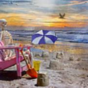 Sam's  Sandcastles Print by Betsy Knapp
