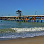 San Clemente Pier Print by Tommy Anderson