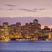 San Francisco Skyline Print by Bryan Mullennix