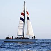 Santa Cruz Sailing Print by Marilyn Hunt