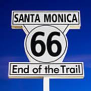 Santa Monica Route 66 Sign Print by Paul Velgos