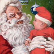 Santas Little Helper Print by Richard De Wolfe