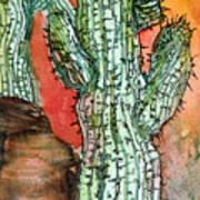 Saquaros Print by Mindy Newman