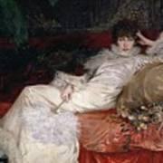 Sarah Bernhardt Print by Georges Clairin