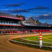 Saratoga Race Track Print by Don Nieman