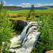 Scenic White River Falls Print by Connie Cooper-Edwards