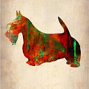 Scottish Terrier Watercolor 2 Print by Naxart Studio