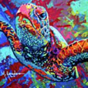 Sea Turtle Print by Maria Arango