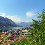 Sea View From Kotor Print by Elizabeth Fontaine-Barr