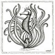 Seahorse Print by Stephanie Troxell