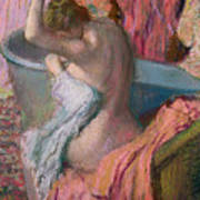 Seated Bather Print by Edgar Degas