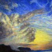 Secret Beach Sunset Print by Kenneth Grzesik