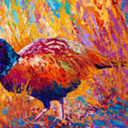 Secrets In The Grass - Pheasant Print by Marion Rose