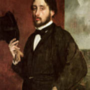 Self Portrait Print by Edgar Degas