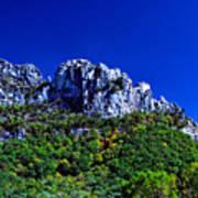 Seneca Rocks National Recreational Area Print by Thomas R Fletcher
