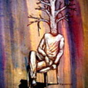 Series Trees Drought 2 Print by Paulo Zerbato