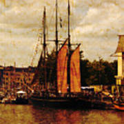 Setting Sail From Bristol Print by Brian Roscorla