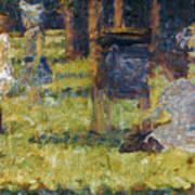 Seurat: Grande Jatte, 1884 Print by Granger