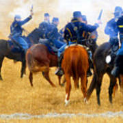 Seventh Cavalry In Action Print by David Lee Thompson