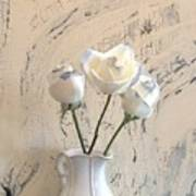 Shabbi Chic Roses Print by Marsha Heiken