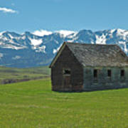 Shields Valley Abandoned Farm Ranch House Print by Bruce Gourley