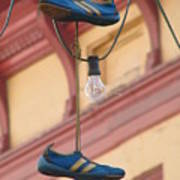 Shoes Hanging Print by Jeff White