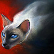 Siamese Cat 7 Painting Print by Svetlana Novikova