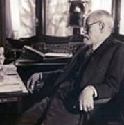 Sigmund Freud Seated In His Study Print by Everett