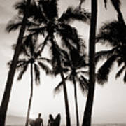 Silhouetted Surfers - Sep Print by Dana Edmunds - Printscapes