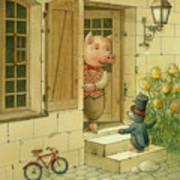 Singing Piglet Print by Kestutis Kasparavicius