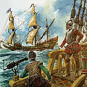 Sir Francis Drake Print by Peter Jackson