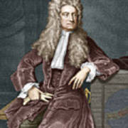 Sir Isaac Newton, British Physicist Print by Sheila Terry