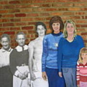 Six Generations Of Women Print by Betty Pieper
