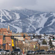 Ski Resort And Downtown Steamboat Print by Rich Reid