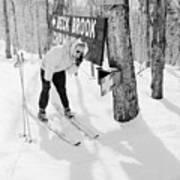 Skier's Telephone Print by Titchen
