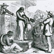 Slave Auction Print by Photo Researchers