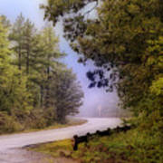Smokey Mountain Road Print by Shirley Dawson