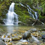 Snow Creek Falls Print by Idaho Scenic Images Linda Lantzy