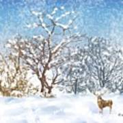 Snow Flurry Print by Arline Wagner