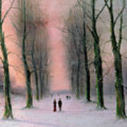 Snow Scene Wanstead Park   Print by Nils Hans Christiansen