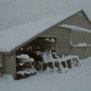 Snow Shed Print by Paul Barlo