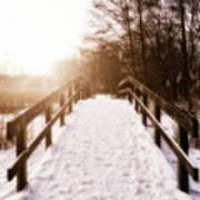 Snowy Bridge Print by Wim Lanclus